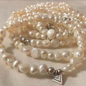 HP 2-19 🎉 Silpada B1601 FW Pearl Bracelet Set
